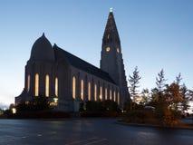 HallgrÃmskirkja教会 免版税图库摄影