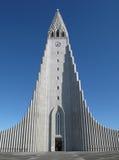 HallgrÃmskirkja, Reykjavik, IJsland Stock Foto's