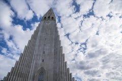 HallgrÃmskirkja Reykjavik, Island Royaltyfria Bilder
