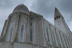 HallgrÃmskirkja, Reykjavik, Islande Images libres de droits