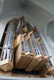 Hallgrímskirkja Pipe Organ in Reykjavik. Pipe organ in Reykjavik's Hallgrímskirkja Stock Photos