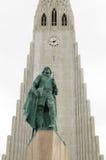 Hallgrímskirkja, Reykjavík, Исландия Стоковое Изображение