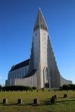 Hallgrímskirkja, Reykjavík, IJsland Royalty-vrije Stock Afbeeldingen
