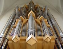Hallgrimmskirkje Organ. Pipework of the organ of Hallgrimmskirkje, Reykjavik Royalty Free Stock Image