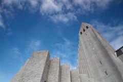 Hallgrimskirken en Reykjavik fotografía de archivo libre de regalías