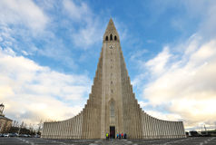 hallgrimskirkja Ισλανδία Ρέικιαβικ ε&kapp Στοκ εικόνα με δικαίωμα ελεύθερης χρήσης