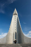 Hallgrimskirkja cathedral with doors open in Reykjavik Iceland Royalty Free Stock Photo