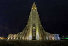 Hallgrimskirkja Cathedral in Reykjavik , Iceland Stock Photo
