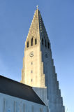 Hallgrimskirkja Cathedral in Reykjavik , Iceland Royalty Free Stock Photography