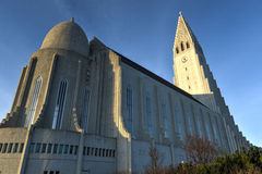 Hallgrimskirkja Cathedral in Reykjavik , Iceland Stock Photography