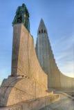 Hallgrimskirkja Cathedral in Reykjavik , Iceland Royalty Free Stock Image