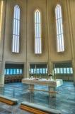 Hallgrimskirkja Cathedral in Reykjavik , Iceland Royalty Free Stock Photos