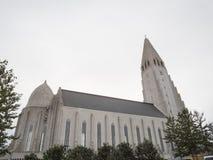 Hallgrimskirkja Cathedral in Reykjavik, Iceland Stock Photos
