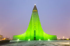Hallgrimskirkja Cathedral Reykjavik Iceland Stock Photos