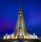 Hallgrimskirkja Cathedral in Reykjavik, Iceland. Royalty Free Stock Photography