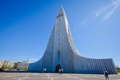 Hallgrimskirkja Cathedral in Reykjavik, Iceland, lutheran parish church, exterior in a sunny summer Stock Photography