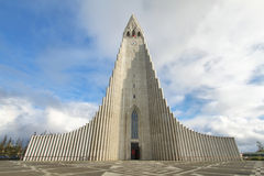 Hallgrimskirkja Cathedral in Reykjavik Stock Photography