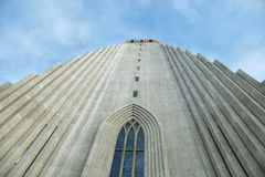 Hallgrimskirkja Cathedral in Reykjavik Royalty Free Stock Images