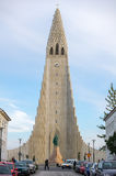 Hallgrimskirkja cathedral in Reykjavik, Iceland. Stock Photography