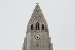 Hallgrimskirkja Cathedral in Reykjavik, Iceland Royalty Free Stock Photography
