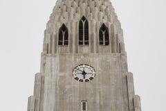 Hallgrimskirkja Cathedral in Reykjavik, Iceland. Steeple of Hallgrimskirkja Cathedral in Reykjavik, Iceland Stock Photo