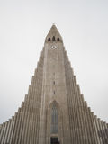 Hallgrimskirkja Cathedral in Reykjavik, Iceland Royalty Free Stock Images