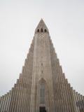 Hallgrimskirkja Cathedral in Reykjavik, Iceland. Steeple of Hallgrimskirkja Cathedral in Reykjavik, Iceland Royalty Free Stock Images