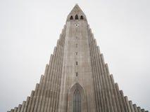 Hallgrimskirkja Cathedral in Reykjavik, Iceland. Steeple of Hallgrimskirkja Cathedral in Reykjavik, Iceland Stock Image