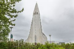 Hallgrimskirkja Cathedral in Reykjavik, Iceland Royalty Free Stock Photos