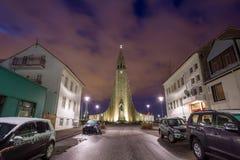 Hallgrimskirkja Cathedral in Reykjavik, Iceland Stock Images
