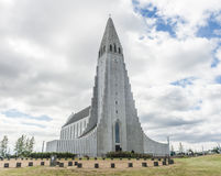 Hallgrimskirkja cathedral in Reykjavik Royalty Free Stock Photos