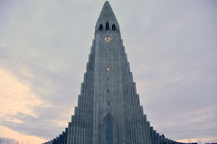 Hallgrimskirkja Cathedral winter time Royalty Free Stock Photos