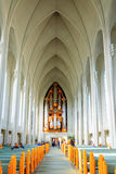Hallgrimskirkja church interior Royalty Free Stock Photos