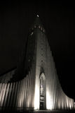 Hallgrimskirkja church at night Stock Photography