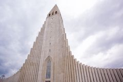 Hallgrimskirkja church in Reykjavik, Iceland. Landmark of the city Royalty Free Stock Image