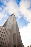 Hallgrimskirkja church in Reykjavik, Iceland. Hallgrimskirkja church in Reykjavik during sunny day, Iceland Royalty Free Stock Photography