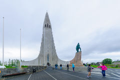 Hallgrimskirkja church, in Reykjavik Stock Photos