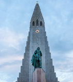 Hallgrimskirkja Church, Reykjavik, Iceland. Hallgrimskirkja, a Lutheran Church of Iceland parish church in Reykjavík, named after the Icelandic poet and Royalty Free Stock Photography