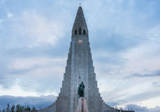 Hallgrimskirkja Church, Reykjavik, Iceland Stock Photos