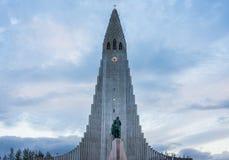 Hallgrimskirkja Church, Reykjavik, Iceland. Hallgrimskirkja, a Lutheran Church of Iceland parish church in Reykjavík, named after the Icelandic poet and Stock Photos