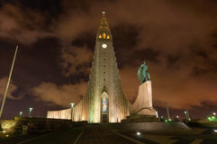 Hallgrimskirkja church Reykjavik Iceland Royalty Free Stock Images