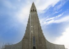 Hallgrimskirkja domkyrka i Reykjavik, arkivbild