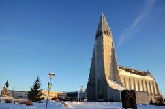 Hallgrimskirkja em Reykjavik Imagens de Stock Royalty Free