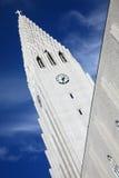 Hallgrimskirkja i Island Fotografering för Bildbyråer