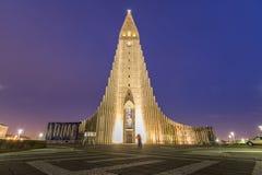 Hallgrimskirkja katedra Zdjęcie Royalty Free