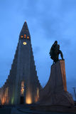 Hallgrimskirkja (kościół hallgrÃmur) zdjęcia stock