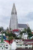 Hallgrimskirkja kościelny Reykjavik Iceland Zdjęcia Royalty Free