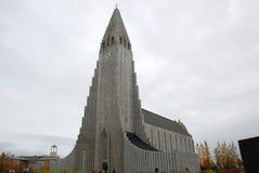 Hallgrimskirkja kyrka, Island Royaltyfri Fotografi