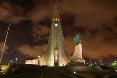 Hallgrimskirkja kyrka Reykjavik Island royaltyfria bilder