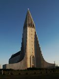 Hallgrimskirkja. The most known cathedral in Reykjavik (Iceland Royalty Free Stock Photo